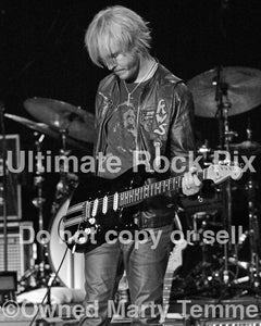Black and white photo of Kenny Wayne Shepherd performing onstage by Marty Temme