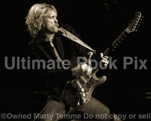 Art Print of Kenny Wayne Shepherd in concert by Marty Temme