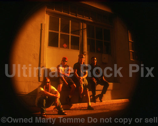 Photo of Josh Homme, John Garcia and Kyuss during a photo shoot in 1994 by Marty Temme