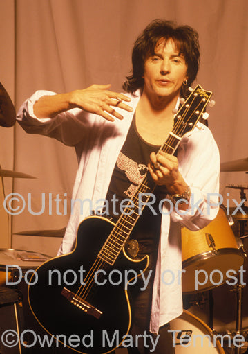 Photo of Phil Lewis of L.A. Guns during a photo shoot in 1995 by Marty Temme