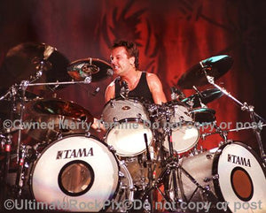 Photos of Drummer Lars Ulrich of Metallica in Concert by Marty Temme
