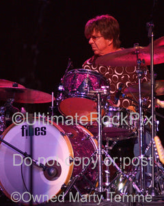 Photo of drummer Chris Layton of Kenny Wayne Shepherd and Stevie Ray Vaughan's Double Trouble in concert by Marty Temme
