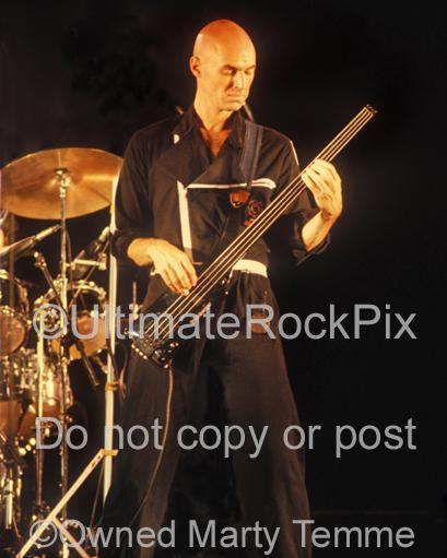 Photos of Tony Levin of Peter Gabriel in Concert in 1980 by Marty Temme