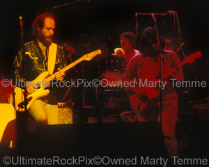 Photo of Lowell George, Richie Hayward and Paul Barrere of Little Feat in 1978 by Marty Temme