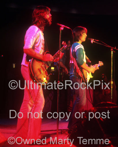 Photo of Loggins and Messina in concert in 1973 by Marty Temme