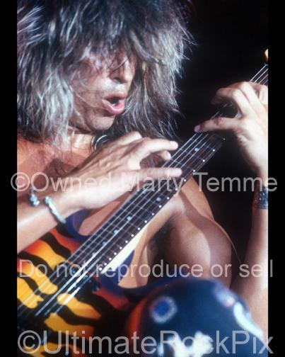 Photos of Guitarist George Lynch of Lynch Mob in Concert in 1991 in Long Beach, California