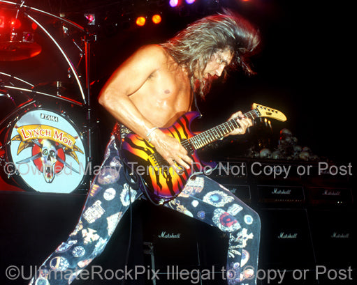 Photo of guitarist George Lynch of Lynch Mob in 1991 by Marty Temme