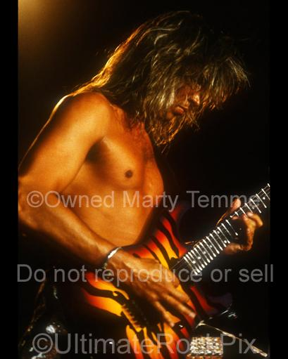 Photos of George Lynch of Lynch Mob in Concert in 1991 in Long Beach, California