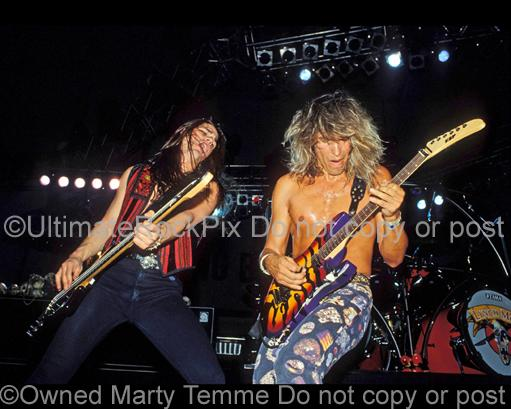 Photos of George Lynch and Anthony Esposito of Lynch Mob in 1991 by Marty Temme