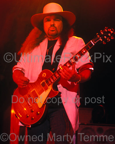 Photo of Gary Rossington of Lynyrd Skynyrd in 2004 by Marty Temme