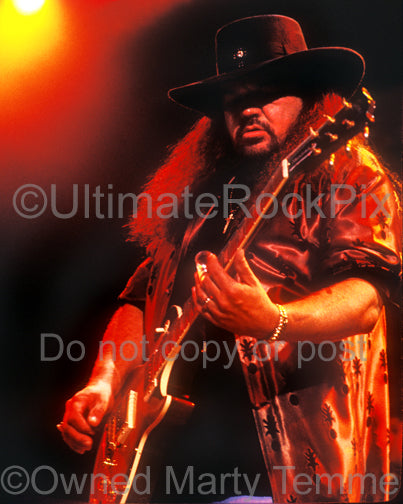Photo of Gary Rossington of Lynyrd Skynyrd in 2002 by Marty Temme
