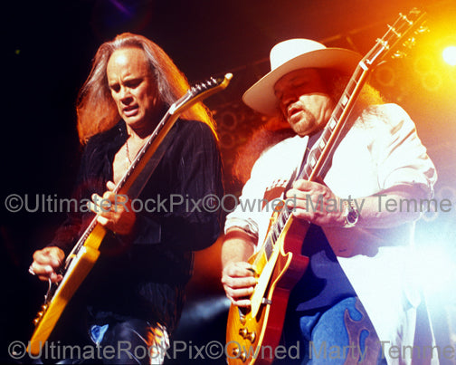 Photo of Rickey Medlocke and Gary Rossington of Lynyrd Skynyrd by Marty Temme