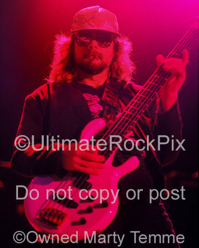 Photo of Leon Wilkeson of Lynyrd Skynyrd in 1991 by Marty Temme
