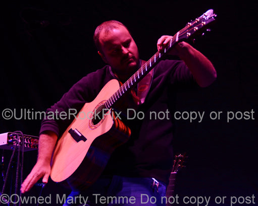 Photo of guitarist Andy McKee in concert in 2012 by Marty Temme