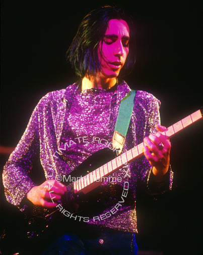 Photo of guitarist Daisy Berkowitz of Marilyn Manson in concert in 1995 by Marty Temme