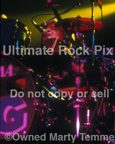 Photo of drummer Pat Torpey of Mr. Big in concert in 1991 - mrbigpt916