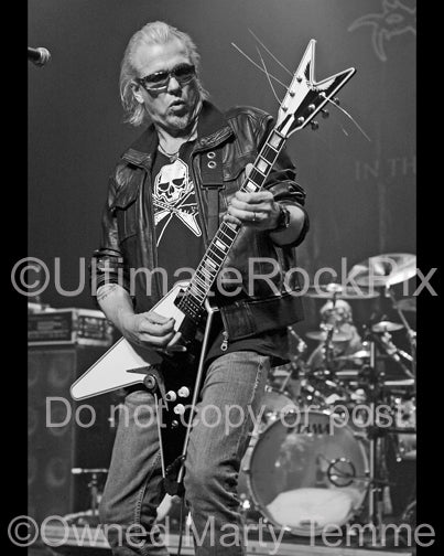 Photo of guitarist Michael Schenker in concert in 2007 by Marty Temme