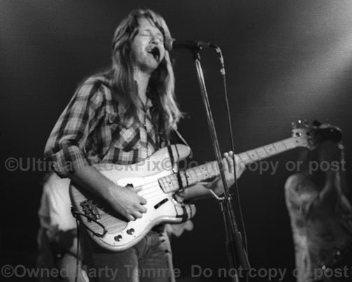 Photo of Tommy Caldwell of The Marshall Tucker Band in concert in 1974 - mtucker7426