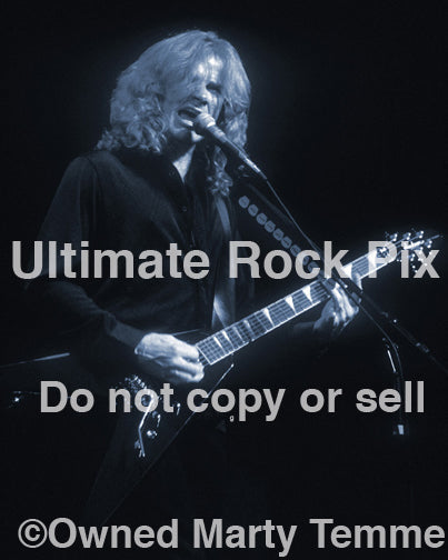 Art Print photo of guitarist Dave Mustaine of Megadeth onstage in 2000 by Marty Temme