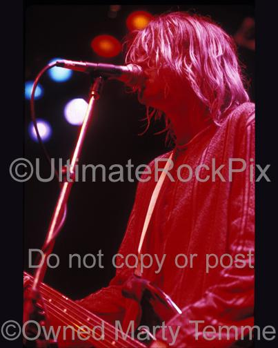 Close Up Photos of Kurt Cobain of Nirvana in Concert in 1991 by Marty Temme