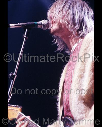 Photos of Musician Kurt Cobain of Nirvana Performing in Concert in 1991 by Marty Temme