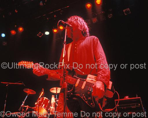 Photos of Singer-Songwriter Kurt Cobain of Nirvana Performing in Concert in 1991 by Marty Temme