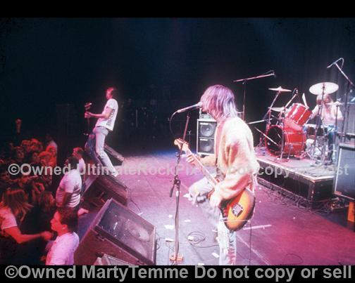 Photos of Kurt Cobain and Nirvana Performing in Concert in 1991 in Hollywood, California by Marty Temme