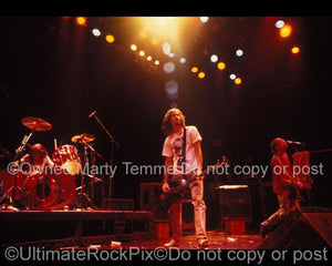 Photos of Kurt Cobain, Dave Grohl and Krist Novaselic of Nirvana in Concert in 1991 by Marty Temme