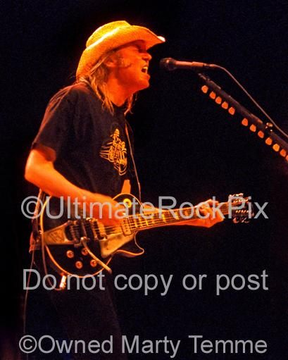 Photos of Neil Young of CSNY Performing in Concert by Marty Temme