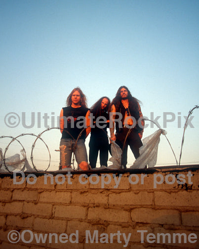 Photo of Scott Weinrich and The Obsessed during a photo shoot in 1994 by Marty Temme