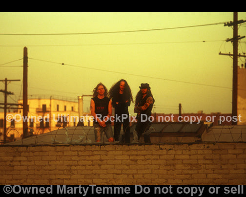 Photo of Scott Weinrich and The Obsessed on a rooftop by Marty Temme