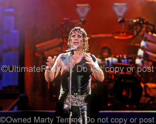 Photos of Ozzy Osbourne Performing Onstage in 1989 by Marty Temme