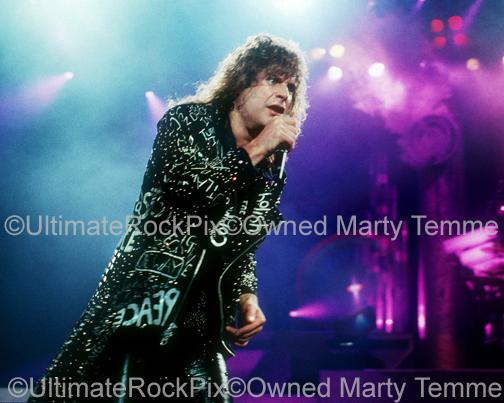 Photos of Singer Ozzy Osbourne Performing in Concert in 1989 by Marty Temme