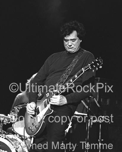 Black and White Photos of Jimmy Page in Concert with The Black Crowes in 1999 by Marty Temme