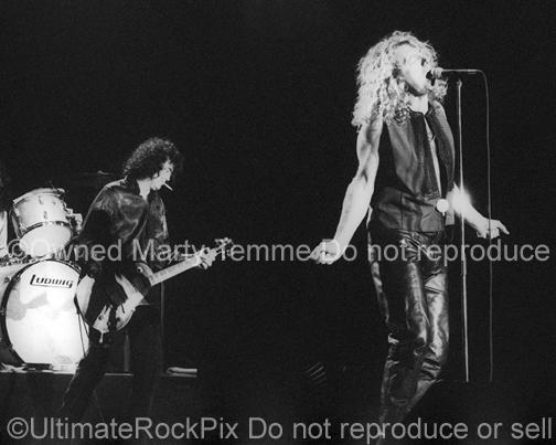 Photos of Robert Plant and Jimmy Page of Page and Plant in Concert in 1995 by Marty Temme