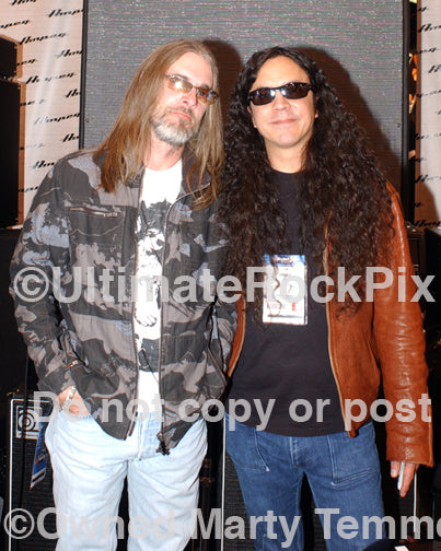 Photo of bass players Rex Brown of Pantera and Mike Inez of Alice in Chains in 2009 by Marty Temme