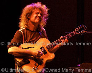 Photos of Guitarist Pat Metheny Performing in Concert by Marty Temme