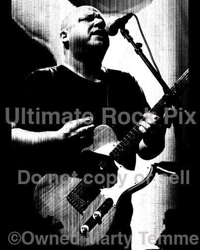 Black and white Art Print of Black Francis of The Pixies in concert in 2009 by Marty Temme