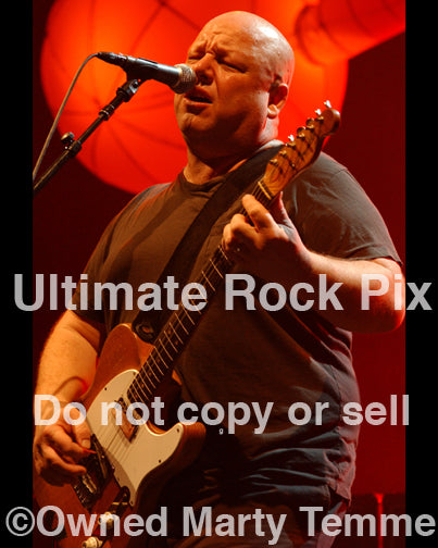 Photo of musician Black Francis of The Pixies performing in concert by Marty Temme
