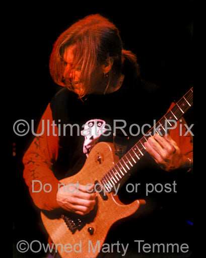Photo of Chris Poland of Damn the Machine in concert in 1993 by Marty Temme