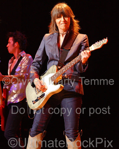 Photo of Chrissie Hynde of The Pretenders in concert in 2007 by Marty Temme