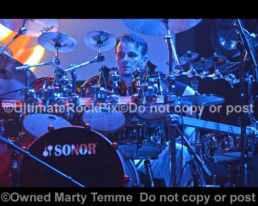 Photos of Drummer Gavin Harrison of Porcupine Tree and King Crimson in Concert by Marty Temme