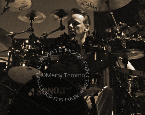 Photo of drummer Gavin Harrison of Porcupine Tree and King Crimson in concert