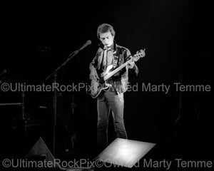 Black and White Photos of John Deacon of Queen in Concert in 1980 by Marty Temme
