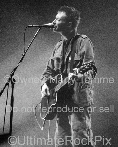Art Print of Thom Yorke of Radiohead in concert in 1997 by Marty Temme
