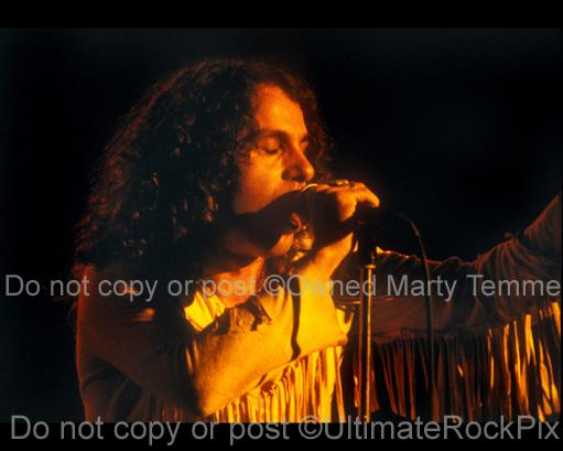 Photos of Ronnie James Dio of Rainbow in 1978 by Marty Temme