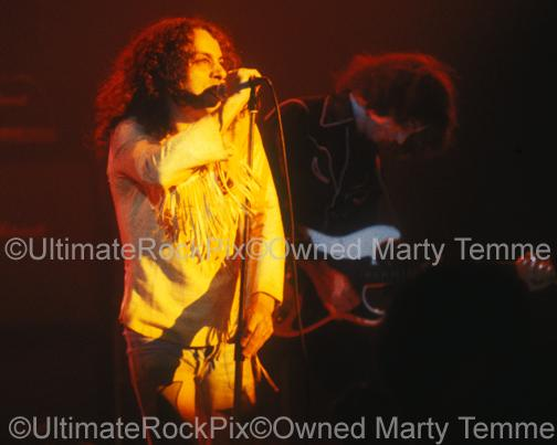 Photos of Ronnie James Dio of Rainbow in Concert in 1978 by Marty Temme