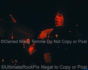 Photos of Drummer Cozy Powell of Rainbow in Concert in 1978 by Marty Temme