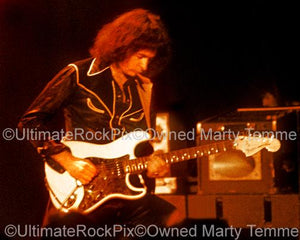 Photos of Guitarist Ritchie Blackmore of Deep Purple and Rainbow in Concert in 1978 by Marty Temme