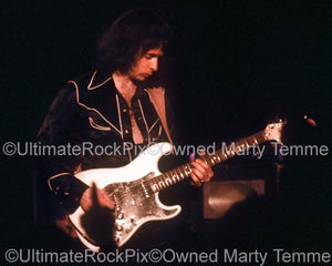 Photos of Guitar Player Ritchie Blackmore of Deep Purple and Rainbow in Concert in 1978 by Marty Temme